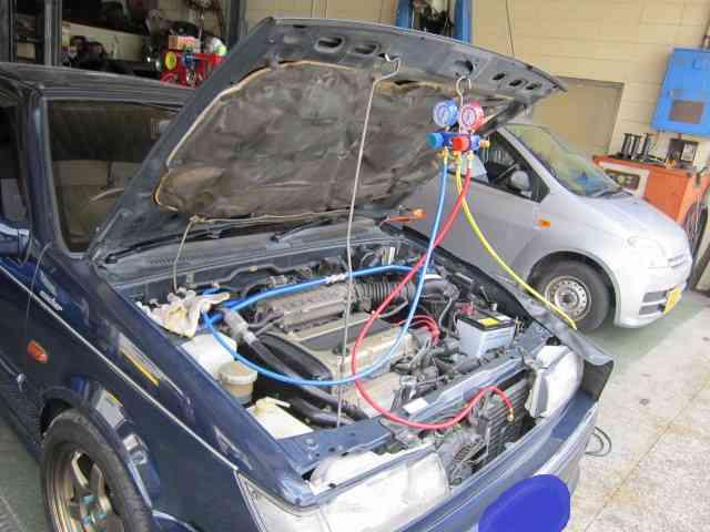 【カーエアコン修理】旧車には泣かされます@いすゞ ジェミニ イルムシャー【車検とエアコン修理@東大阪!】